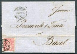 1867 Switzerland Zurich Entire - Basel - 1862-1881 Helvetia Assise (dentelés)