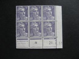 Bloc De 6 Coin Daté:  24.04.1951 Du N° 883, Neuf XX . - 1950-1959