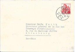 SUISSE -  CLARENS   -    SUR CARTE LETTRE POUR LA FRANCE STRASBOURG   -  1947 - Svizzera