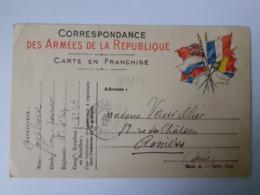 Correspondance Des Armées De La République 28-12-1914 - Tarjetas De Franquicia Militare