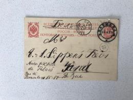 Carte Postale RUSIE UPU WARSAWA -> Gand 1910 - 1857-1916 Empire