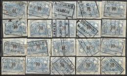 _9Sp-964:restje 20zegels: TR23 ...om Verder Uit Te Zoeken. - 1895-1913