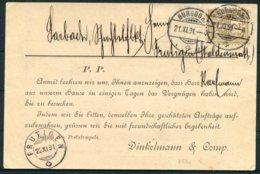 1991 Switzerland Dinkelmann & Co. Burgdorf. Metall Und Eisenwaaren Advertising Postcard - Frutigen - Briefe U. Dokumente