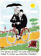 FAIZANT  Jacques  Ed Yvon  N°39  - Humour  Les Vieilles Dames Velo -   CPSM  10,5x15 TBE 1967 Neuve - Faizant