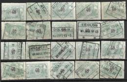 _9Sp-962:restje 20zegels: TR20 ...om Verder Uit Te Zoeken. - 1895-1913