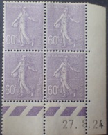 R1189/266 - 1924 - TYPE SEMEUSE LIGNEE - BLOC - LUXE - N°200 TIMBRES NEUFS** CdF Daté - ....-1929