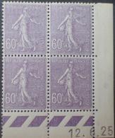 R1189/267 - 1925 - TYPE SEMEUSE LIGNEE - BLOC - LUXE - N°200 TIMBRES NEUFS** CdF Daté - ....-1929