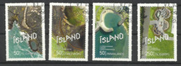 ISLANDE Serie De 4 Timbres Oblitérés De 2019 - Gebraucht