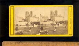 Photo Photographie Stéréoscopique 3D  Cathédrale Notre Dame De PARIS Sans La Flèche Avant 1860 - Stereoscopic