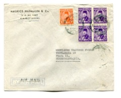 EGYPT COMMERCIAL COVER - CIRCULATED FROM CAIRO TO PRAHA II, TCHECOSLOVAQUIE. CIRCA 1940 AIR MAIL -LILHU - Egipto