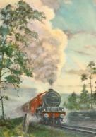 Transports. CPM. Trains. ScotsPine. Pin Sylvestre Par K. E. Carter Conçu Pour Le London Midland And Scottish Railway - Trains