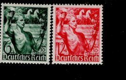 Deutsches Reich 660 - 661 Fackelträger MNH Postfrisch ** Neuf - Deutschland