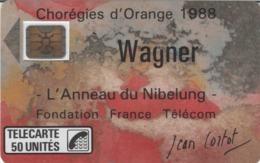 FRANCE - 50 Unités - WAGNER - Télécarte Utilisée - Frankrijk