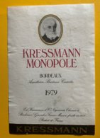 12133 - Kressmann Monopole 1979 - Bordeaux