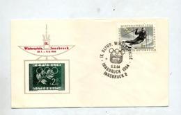 Lettre Cachet Innsbruck Jeu Olympique - Marcofilie - EMA (Print Machine)