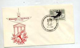 Lettre Cachet Innsbruck Jeu Olympique Cession Cio - Marcofilie - EMA (Print Machine)