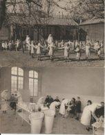 D  75  PARIS  2  CARTES  HOPITAL De La Croix SAINT SIMON  Et OEUVRE DE LA CROIX 18 RUE DE LA CROIX St SIMON - Gezondheid, Ziekenhuizen