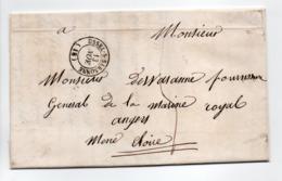- Lettre USSEL-SUR-SARSONNE (Corrèze) Pour ANGERS (Maine-et-Loire) 13 NOV 1847 - Taxe Manuscrite 5 Décimes - - Marcophilie (Lettres)