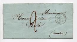 - Lettre AVIGNON Pour L'Isle-sur-la-Sorgue (Vaucluse) 20 JANV 1847 - Taxe Manuscrite 2 Décimes - - Marcophilie (Lettres)