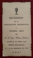 JOSE MARCO ROBISCO. RECUERDO DE LA ORDENACION SACERDOTAL - Religión & Esoterismo