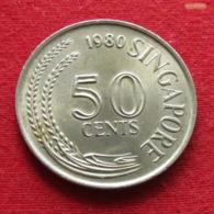 Singapore 50 Cents 1980 KM# 5 Singapura Singapur Singapour - Singapore