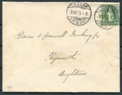 1893 Switzerland Luzern Cover - Devon And Cornwall Banking Co. Plymouth England - Briefe U. Dokumente
