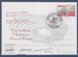 = 69è Congrès De La Fédération Française Des Associations Philatéliques 1e Jour Clermont Ferrand 24.5.96 Sur Menu N°3004 - Matasellos Conmemorativos