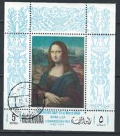 Ras Al Khaima Bloc Mona Lisa Oblitéré (1968) - Ras Al-Khaima