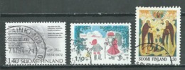Finlande YT N°915-916-918 Aleksis Kivi - Noel 1984 - Eglise Orthodoxe Oblitéré ° - Finlande