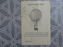 44 SAILLE  CONCOURS DE BALLON TICKET D'accompagnement A Retourner  7 X 10.6 CM - Ohne Zuordnung