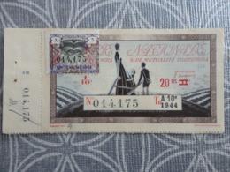 BILLET TICKET DE LOTERIE NATIONALE 1944 AVEC TALON  12.3 X 6 CM - Loterijbiljetten