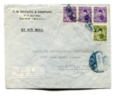 EGYPT COMMERCIAL COVER - CIRCULATED FROM CAIRO TO MILWAUKEE, WISCONSIN, U.S.A.. YEAR 1941 AIR MAIL -LILHU - Egipto