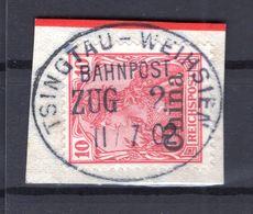 China 17 IDEAL BAHNPOST ZUG 2 Gest. Luxusbriefst�ck (B7719 - Deutsche Post In China