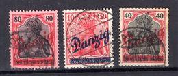 Danzig 36+38+40 Sauber Gest. Luxusbriefstück (77154 - Dantzig