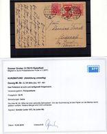 Danzig VORL�UFER VL86+107 Auf Bedarfskarte (B6564 - Danzig