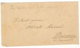 FRA157 BUSTA E LETTERA DEL 20 GENNAIO 1931 DA CAV. ROMEO TOSI  DI PARMA A ALBERTO MARINI PER CONGRATULARSI DEL COMPONIME - Manuscripten