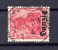 Danzig 6 BAHNPOST ZUG 33 Gest. (B6731 - Dantzig