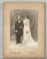 Photographie Boureau ,LIMOGES ,  Mariage ,  Mariée, André ,Marguerite ,1910,2 Scans , 200 X 150mm ,frais Fr 2.25 E - Anonieme Personen