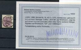 DOA VORL�UFER LAMU VL40II Herrlich Auf Gest. Luxusbriefst�ck BPP BEFUND 600EUR (B9479 - Kolonie: Deutsch-Ostafrika