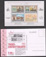 """Österreich 2000:  Block  """"WIPA"""" Postfrisch  Mit Eintrittskarte (siehe Foto/Scan) - 1991-00 Unused Stamps"""