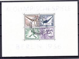 DR-3.Reich OLYMPIADE 1940 Bl5 STEMPEL AUSSTELLUNG BERLIN Gest. (B6044 - Blocks & Kleinbögen