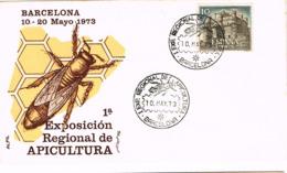 Espagne. FDC. Exposition D'apiculture. Abeille - Api