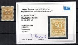 DR-Infla 275aI ABART ** POSTFRISCH BPP BEFUND 150EUR (B6598 - Deutschland