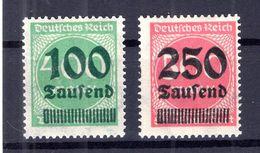 DR-Infla 290z+295z KARTONPAPIER ** POSTFRISCH BPP 75EUR (B6993 - Duitsland