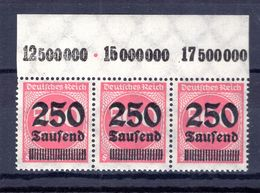 DR-Infla 295III OR STRICHLEISTENFEHLER ** POSTFRISCH 45++EUR (B8063 - Deutschland