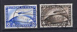 DR-Weimar 423/24 ZEPPELINE Gest. 110EUR (74251 - Oblitérés