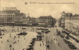BELGIQUE - BRUXELLES - Place Rogier Et Entrée De La Rue Neuve Et Du Boulevard Adolphe Max. (Pub. Bières Bavaro Belge). - Squares