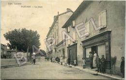 Fleurie (69) - La Place (Circulé En 1925) - Autres Communes