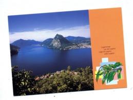 Carte Postale Taxe Perçue Arbre Fruit Fdc Vue Lac Lugano - Entiers Postaux