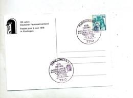 Carte Cachet Plochingen 125 Ans Federation Pompier Vue Magirus Burger - [7] République Fédérale